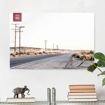 Glasbild - Route 66 - On the Road - Querformat 2:3