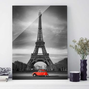 Glasbild - Spot on Paris - Hoch 3:4