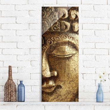 Glasbild - Vintage Buddha - Panorama Hoch