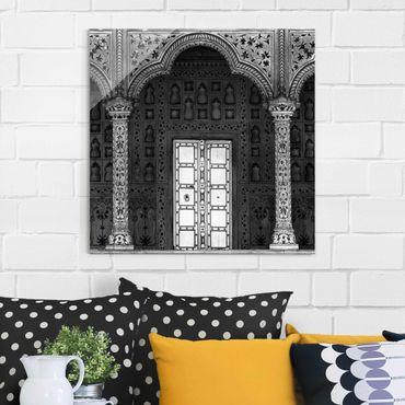 Glasbild - White Door - Quadrat 1:1
