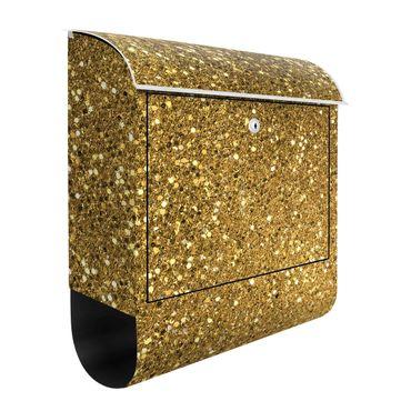Briefkasten - Glitzer Konfetti in Gold