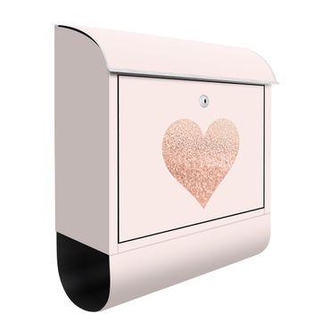 Briefkasten - Glitzerndes Herz
