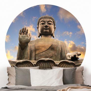Runde Tapete selbstklebend - Großer Buddha