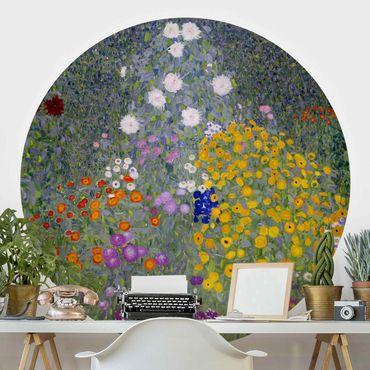 Runde Tapete selbstklebend - Gustav Klimt - Bauerngarten