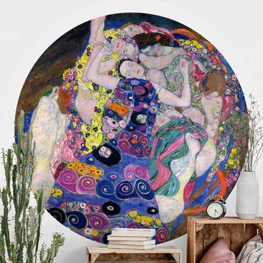 Runde Tapete selbstklebend - Gustav Klimt - Die Jungfrau