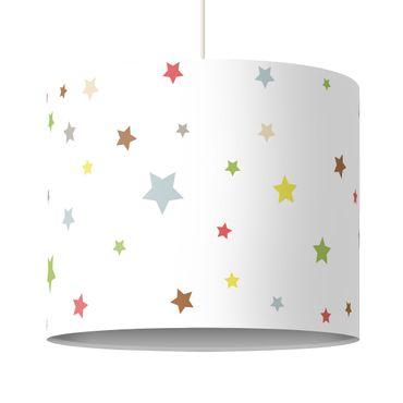 Hängelampe - Bunte Sterne