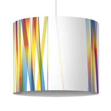 Hängelampe - Rainbow Stripes