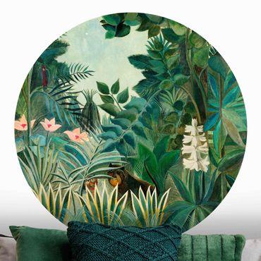 Runde Tapete selbstklebend - Henri Rousseau - Dschungel am Äquator