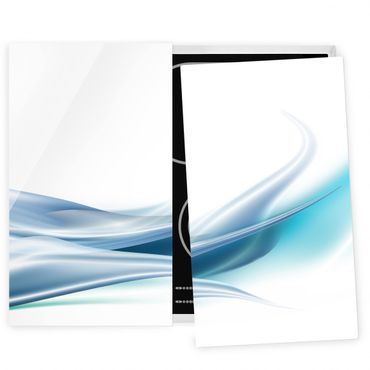 Herdabdeckplatte Glas - Blue Dust