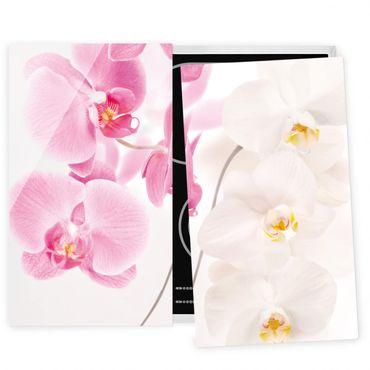 Herdabdeckplatte Glas - Delicate Orchids
