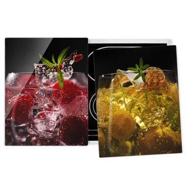 Herdabdeckplatte Glas - Exotische Drinks