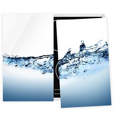 Herdabdeckplatte Glas - Fizzy Water