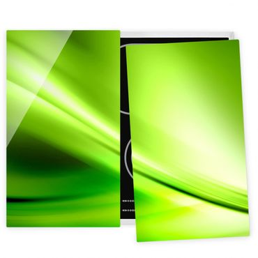 Herdabdeckplatte Glas - Green Valley