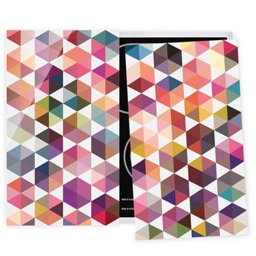 Herdabdeckplatte Glas - Hexagon Facetten
