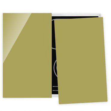 Herdabdeckplatte Glas - Lindgrün Bambus
