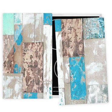 Herdabdeckplatte Glas - Maritime Planks
