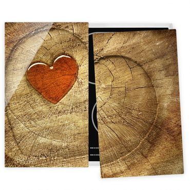 Herdabdeckplatte Glas - Natural Love