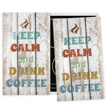 Herdabdeckplatte Glas - Drink Coffee