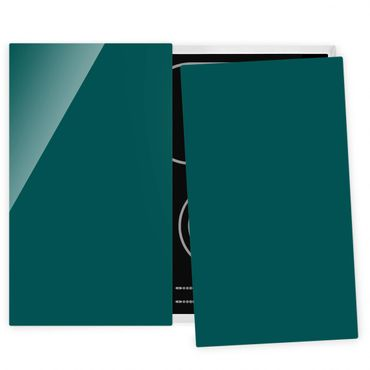 Herdabdeckplatte Glas - Piniengrün