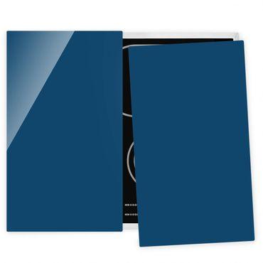 Herdabdeckplatte Glas - Preussisch-Blau