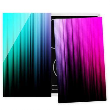 Herdabdeckplatte Glas - Rainbow Display