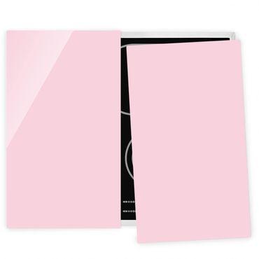 Herdabdeckplatte Glas - Rosé
