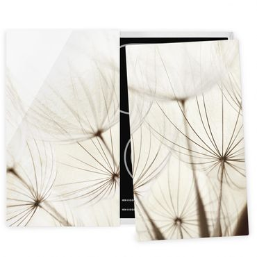 Herdabdeckplatte Glas - Sanfte Gräser