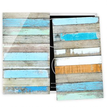 Herdabdeckplatte Glas - Shelves of the Sea