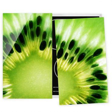 Herdabdeckplatte Glas - Shining Kiwi