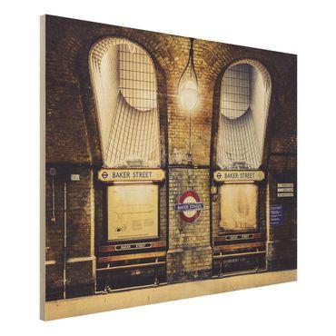 Wandbild aus Holz - Baker Street - Quer 4:3