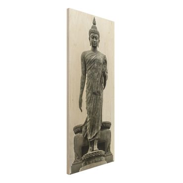 Holzbild Buddha - Buddha Statue - Panorama Hoch