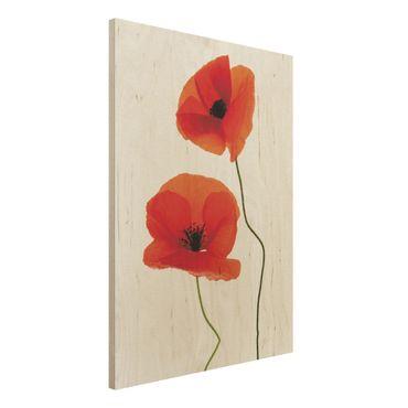 Holzbild - Charming Poppies - Hoch 3:4