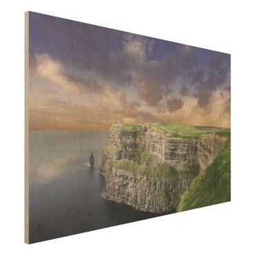 Holz Wandbild - Cliffs Of Moher - Quer 3:2