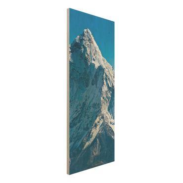Holzbild - Der Himalaya - Panorama Hoch