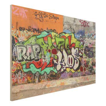 Holzbild - Graffiti - Quer 3:2