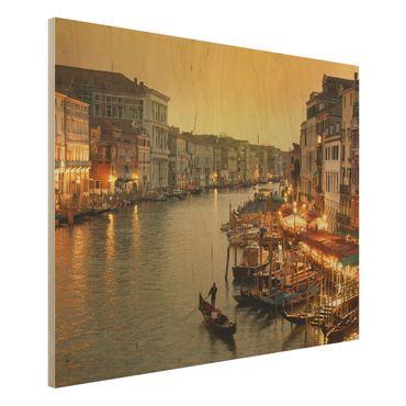 Holz Wandbild - Großer Kanal von Venedig - Quer 4:3