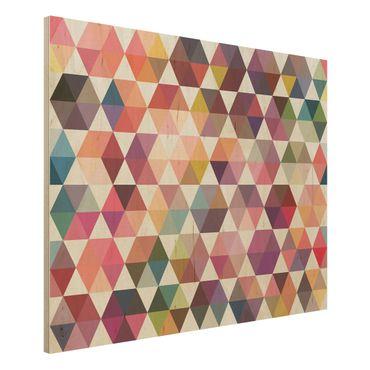 Wandbild Holz - Hexagon Facetten - Quer 4:3