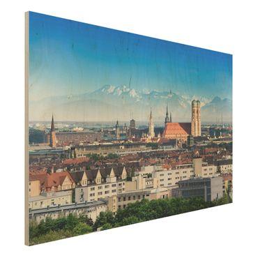 Holzbild - München - Quer 3:2
