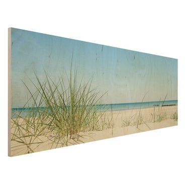 Holzbild Meer - Ostseeküste - Panorama Quer