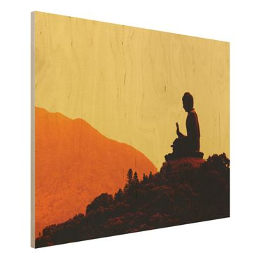 Holzbild Buddha - Resting Buddha - Quer 4:3