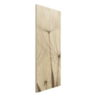 Holz Wandbild - Sanfte Gräser - Panorama Hoch