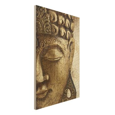 Holzbild Buddha - Vintage Buddha - Hoch 2:3