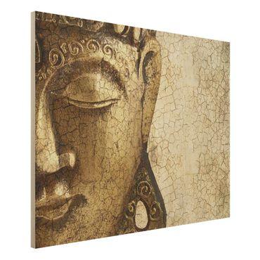 Holzbild Buddha - Vintage Buddha - Quer 4:3