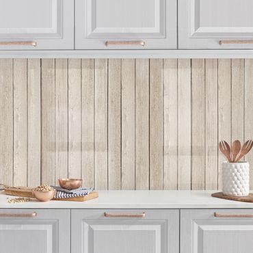 Küchenrückwand - Holzplanken Eiche hell