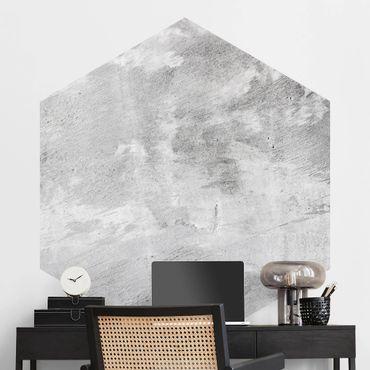 Hexagon Fototapete selbstklebend - Industrie-look Betonoptik