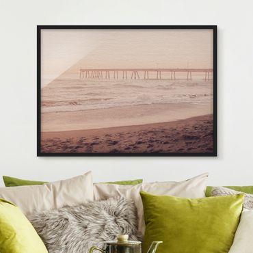 Bild mit Rahmen - Kalifornien Halbmond Küste - Querformat