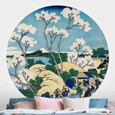 Runde Tapete selbstklebend - Katsushika Hokusai - Der Fuji von Gotenyama