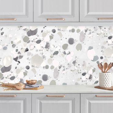 Küchenrückwand - Kies Muster in Grau