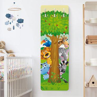 Kindergarderobe - No.BF1 Dschungeltiere - Kinderzimmer