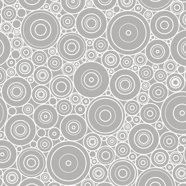 Klebefolie - 60er Retro Kreismuster hellgrau weiss - Selbstklebefolie